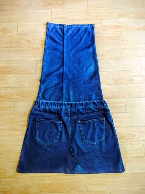 デニムリメイク ジーンズからエプロン制作 しつけ縫い